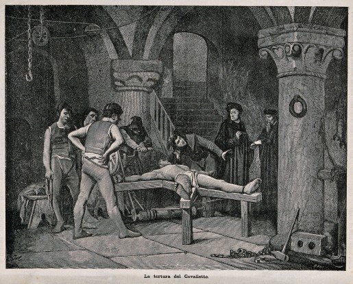 A_man_dressed_in_a_loincloth_is_tortured_on_the_rack_with_a_Wellcome_V0041737.jpg